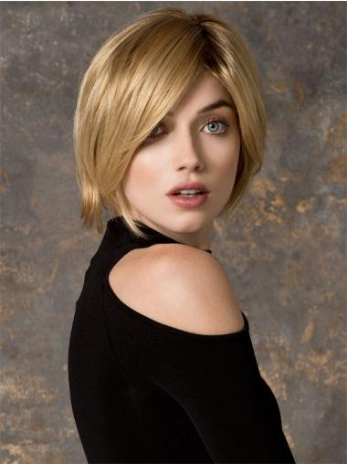 Bobs Chin Length Blonde Straight Cheapest Petite Wigs