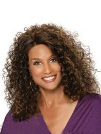 """Auburn Shoulder Length Curly Without Bangs Full Lace 12"""" Beverly Johnson Wigs"""