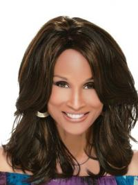 "Black Shoulder Length Wavy Layered Full Lace 14"" Beverly Johnson Wigs"