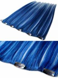 Style Black Straight Remy Human Hair Clip In Hair Extensions