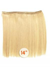 Straight Remy Human Hair Blonde Style Weft Extensions