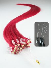 Fashion Red Straight Micro Loop Ring Hair Extensions