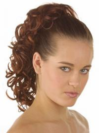 Hair Ponytail With Synthetic Curly Style Auburn Color