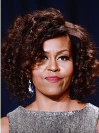 "Capless Classic Chin Length Kinky 12"" Auburn Sleek First Lady Wigs"