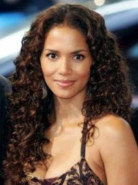 """Lace Front Curly Layered Long Fabulous 20"""" Halle Berry Wigs"""