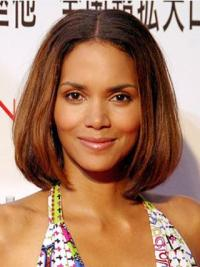 """Full Lace Straight Bobs Chin Length High Quality 12"""" Halle Berry Wigs"""
