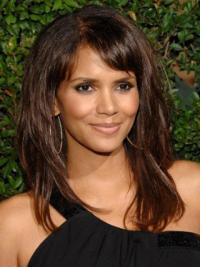 """Lace Front Straight With Bangs Long Stylish 16"""" Halle Berry Wigs"""