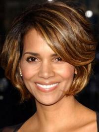 Halle Berry Short Wigs With Full Lace Layered Cut Short Length