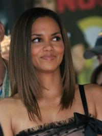 Halle Berry Wig Shoulder Length Brown Color Straight Style