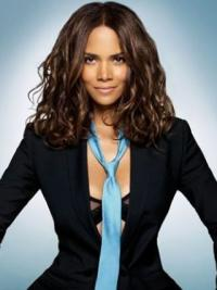 """Lace Front Wavy Without Bangs Shoulder Length No-Fuss 14"""" Halle Berry Wigs"""