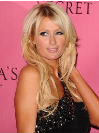 100% Hand-tied Long Wavy Layered Blonde Great Paris Hilton Wigs
