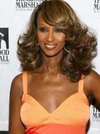 """Shoulder Length Wavy Lace Front Brown 14"""" Popular Iman Wigs"""