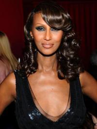 """Shoulder Length Wavy Lace Front Auburn 14"""" Amazing Iman Wigs"""