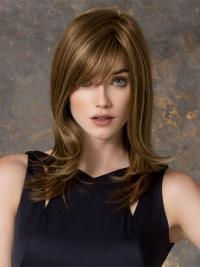 Designed Blonde Straight Layered Lace Front Long Wigs