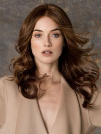 Petite Monofilament Wigs For Women Long Length Auburn Color