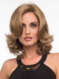 Wavy Blonde Exquisite Shoulder Length Classic Wigs