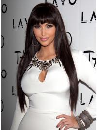 "Brown Long Straight Lace Front Top 26"" Kim Kardashian Wigs"
