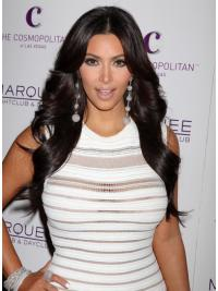 Black Remy Human Layered Capless Long Wavy Kim Kardashian Wigs