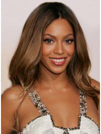 "Long Wavy Without Bangs Lace Front 24"" Comfortable Beyonce Wigs"