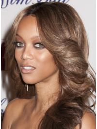 "Brown Wavy Layered Lace Front 20"" Best Tyra Banks Wigs"