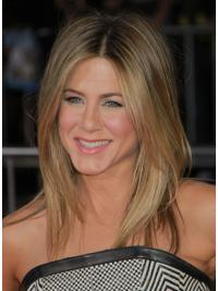 "Shoulder Length Straight Layered Capless Blonde Cheapest 17"" Jennifer Aniston Wigs"