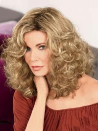 """Shoulder Length Curly Without Bangs Full Lace Brown Online 14"""" Jaclyn Smith Wigs"""