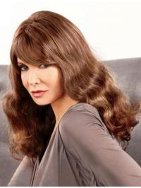 "Long Wavy With Bangs Lace Front Brown Hairstyles 18"" Jaclyn Smith Wigs"