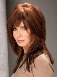 "Long Straight With Bangs Full Lace Brown Top 16"" Jaclyn Smith Wigs"
