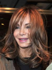 """Shoulder Length Straight With Bangs Full Lace Brown New 14"""" Jaclyn Smith Wigs"""