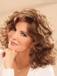 "Shoulder Length Wavy Layered Full Lace Brown Comfortable 14"" Jaclyn Smith Wigs"