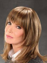 "Shoulder Length Straight Bobs Lace Front Brown Exquisite 14"" Jaclyn Smith Wigs"