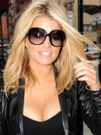 """12"""" New Blonde Long Wavy Without Bangs Jessica Simpson Wigs"""