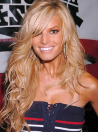 """18"""" Durable Blonde Long Wavy Layered Jessica Simpson Wigs"""