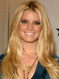 """18"""" Exquisite Blonde Long Wavy Layered Jessica Simpson Wigs"""