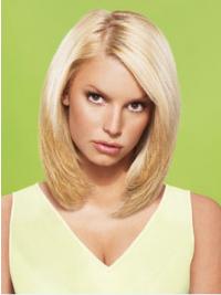"12"" No-Fuss Blonde Short Straight Layered Jessica Simpson Wigs"