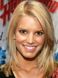 """12"""" Perfect Blonde Shoulder Length Straight Layered Jessica Simpson Wigs"""