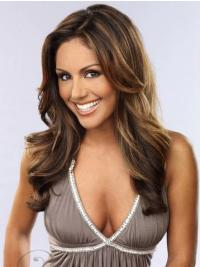 Indian Remy Long Brown Wavy Buy Human Hair Lace Front Wigs