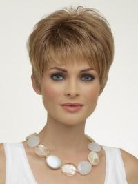 Natural Synthetic Wigs Boycuts Cropped Length Blonde Color
