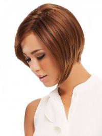 Remy Human Monofilament Chin Length Straight Bob Cut Wigs