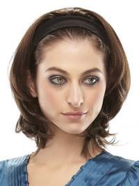 Brazilian Straight Brown Chin Length Clip In Half Wig