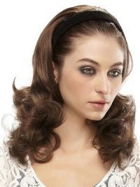 Long Wavy Brown Amazing Synthetic Half Wigs