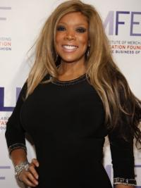 """Without Bangs Straight Blonde 22"""" Flexibility Wendy Williams Wigs"""
