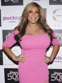 """Without Bangs Wavy Ombre/2 Tone 22"""" Sleek Wendy Williams Wigs"""