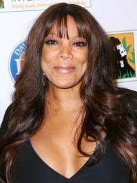 "With Bangs Wavy Brown 22"" Beautiful Wendy Williams Wigs"