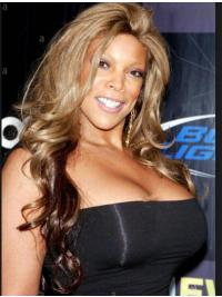 """Synthetic 24"""" Long Blonde Without Bangs Curly Capless Wendy Williams Wigs"""