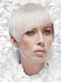 """Lace Front Boycuts Short Straight 8"""" Platinum Blonde Cheapest Fashion Wigs"""
