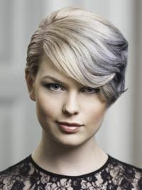 """Lace Front Grey Short Wavy 8"""" Discount Fashion Wigs"""