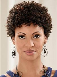 African Hair Wig With Full Lace Remy Human Kinky Style